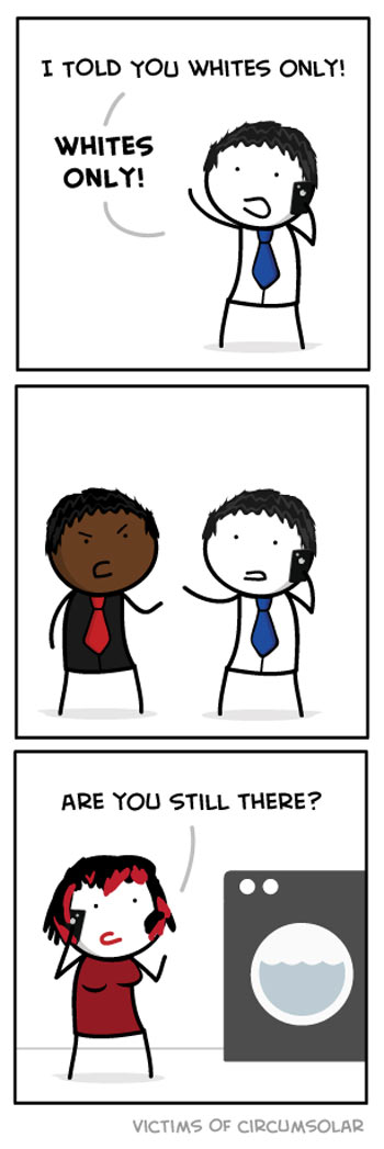 Whites only…