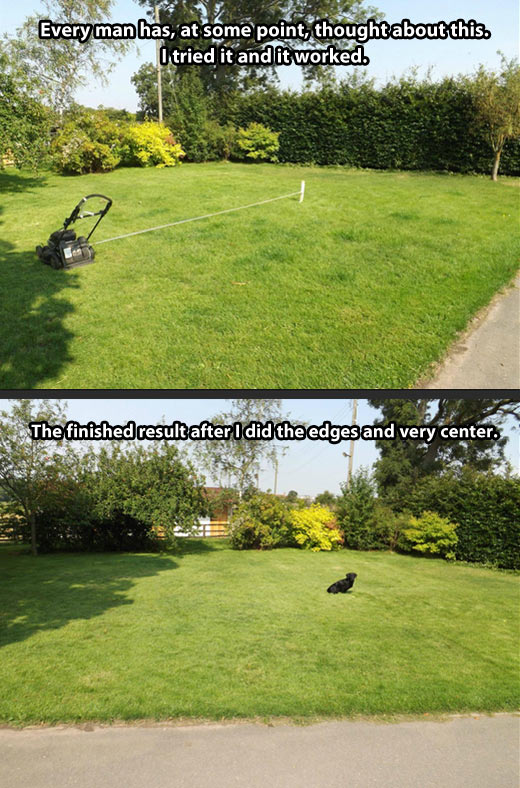 Lawn mowing made easy…
