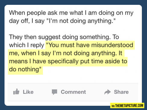 I'm not doing anything…