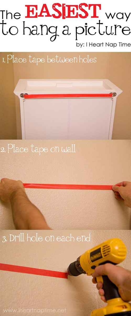The easiest way to hang a picture…