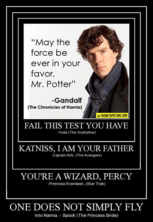 How to infuriate nerds from every fandom all at once…
