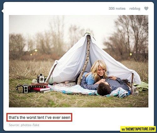 Absolute fail tent…