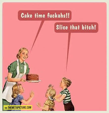 I said slice it…