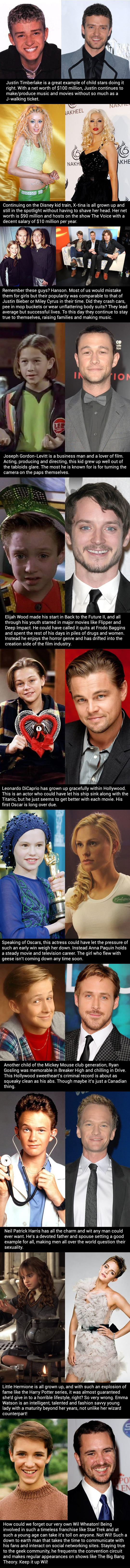 Child stars who didn't give in to the destructive side of fame…