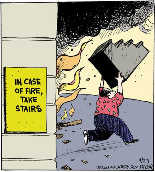 Fire safety advice…