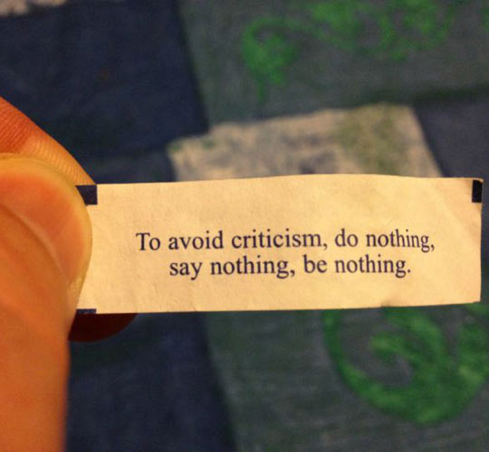 How to avoid criticism…