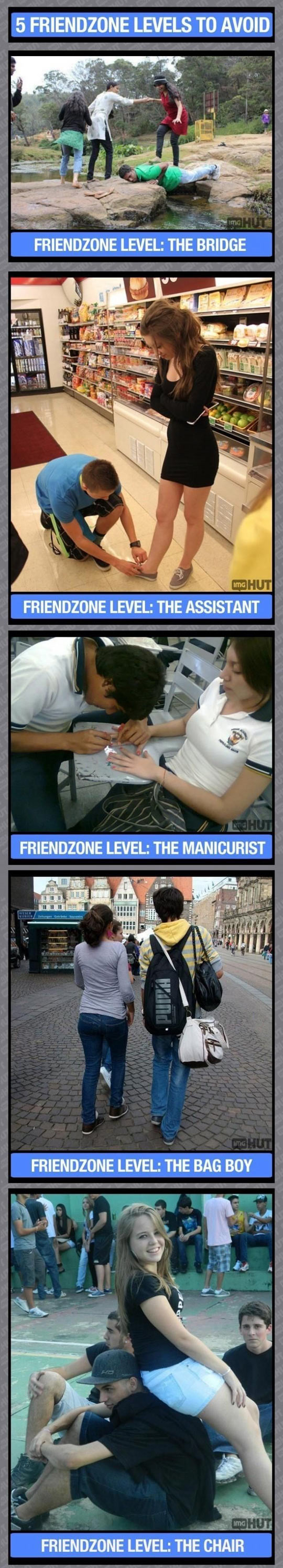 5 levels of friendzone to avoid…