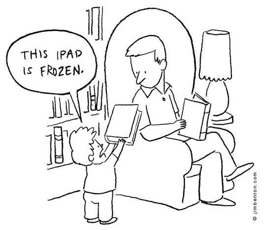 funny-frozen-iPad-book-little-kid