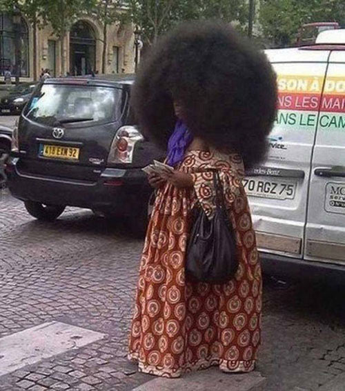 That is one huge afro…