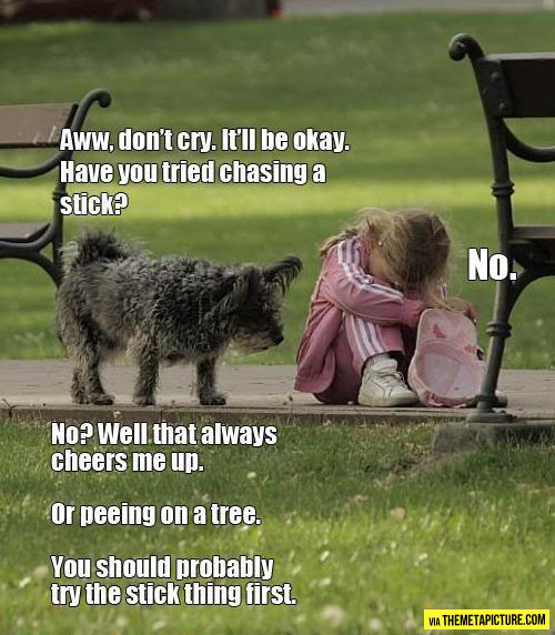 funny-girl-crying-dog-chasing-stick