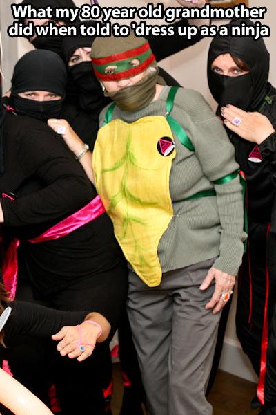 funny-grandmother-costume-ninja