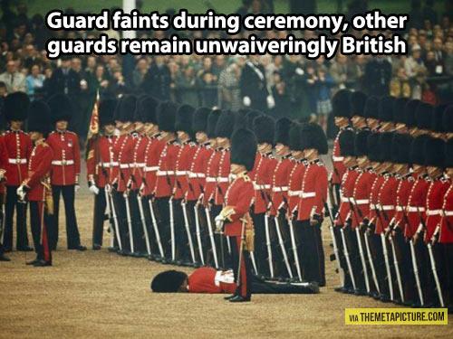 British guards…