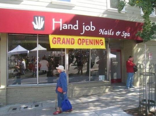 Grand opening…