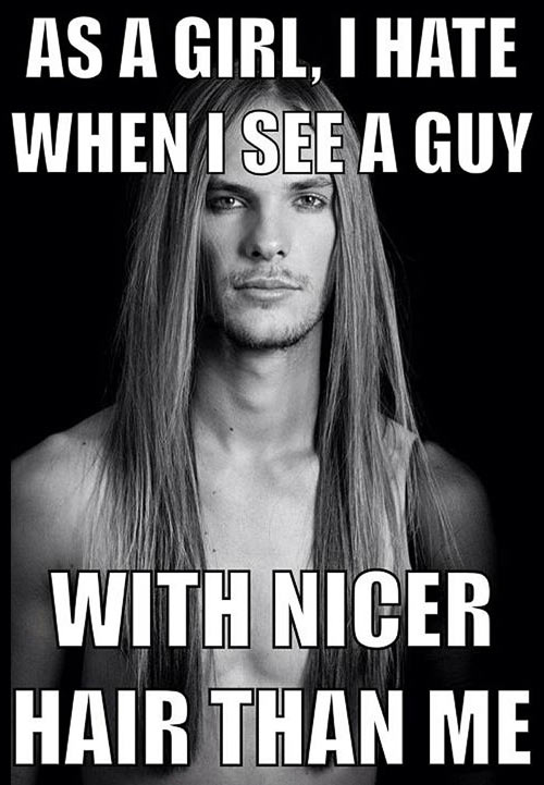 Guys with pretty hair…