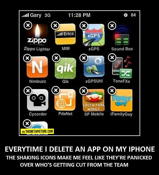 Every time I delete an app…