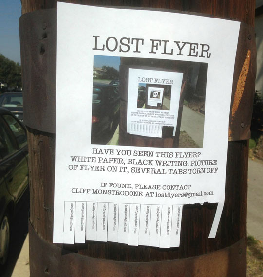 Lost flyer…