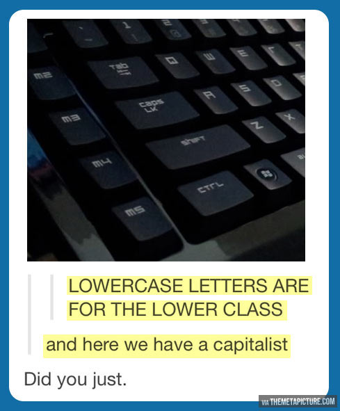 Lowercase letters…
