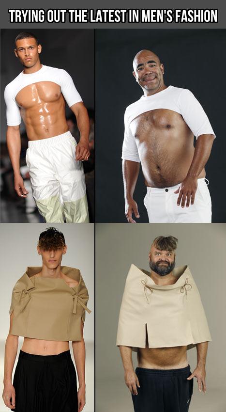 The latest in men's fashion…