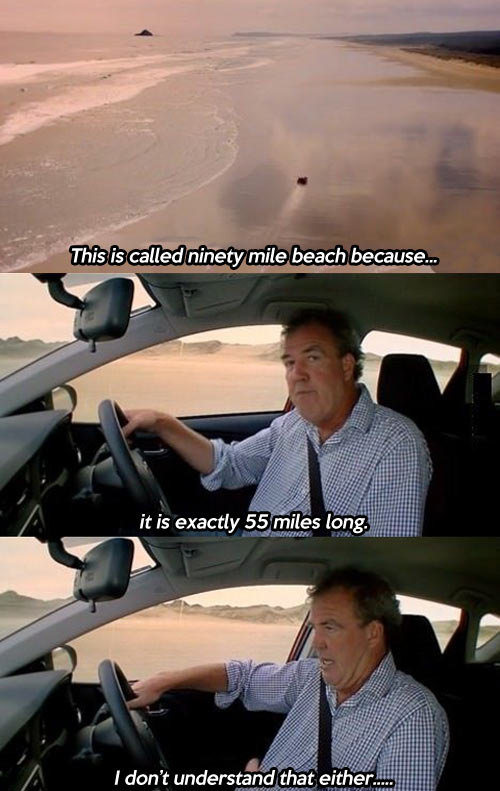Jeremy Clarkson is confused…