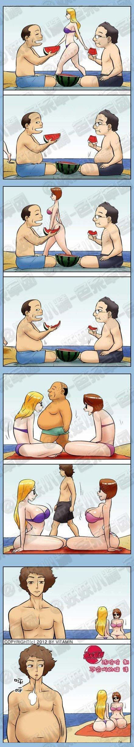 funny-men-fat-thin-women-bellies