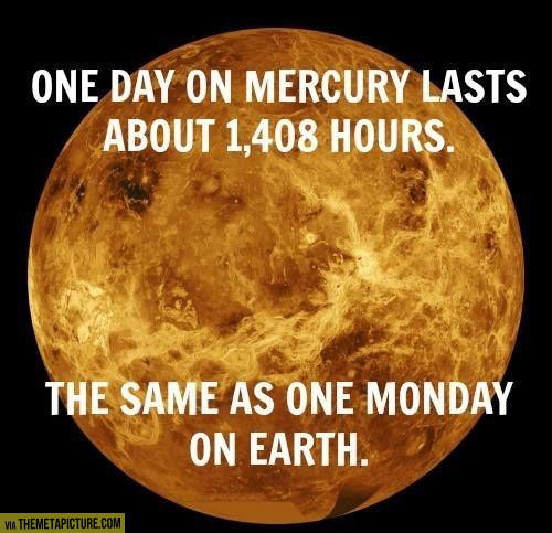 One day on Mercury…
