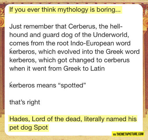 If you think mythology is boring…