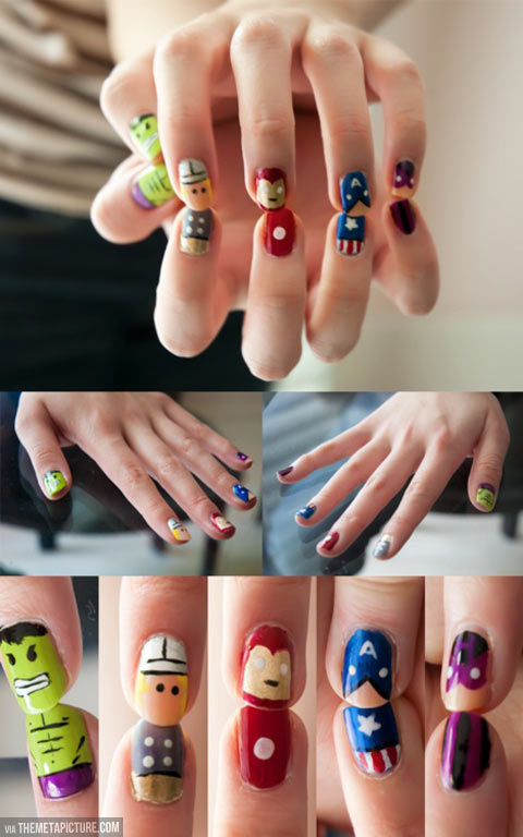 Gorgeously geeky nail art…