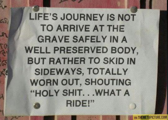 Life's journey…