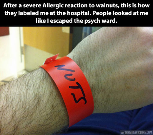 Reaction to walnuts…