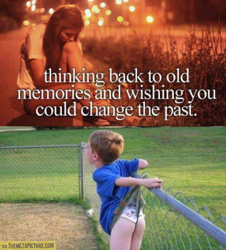 Thinking back to old memories…