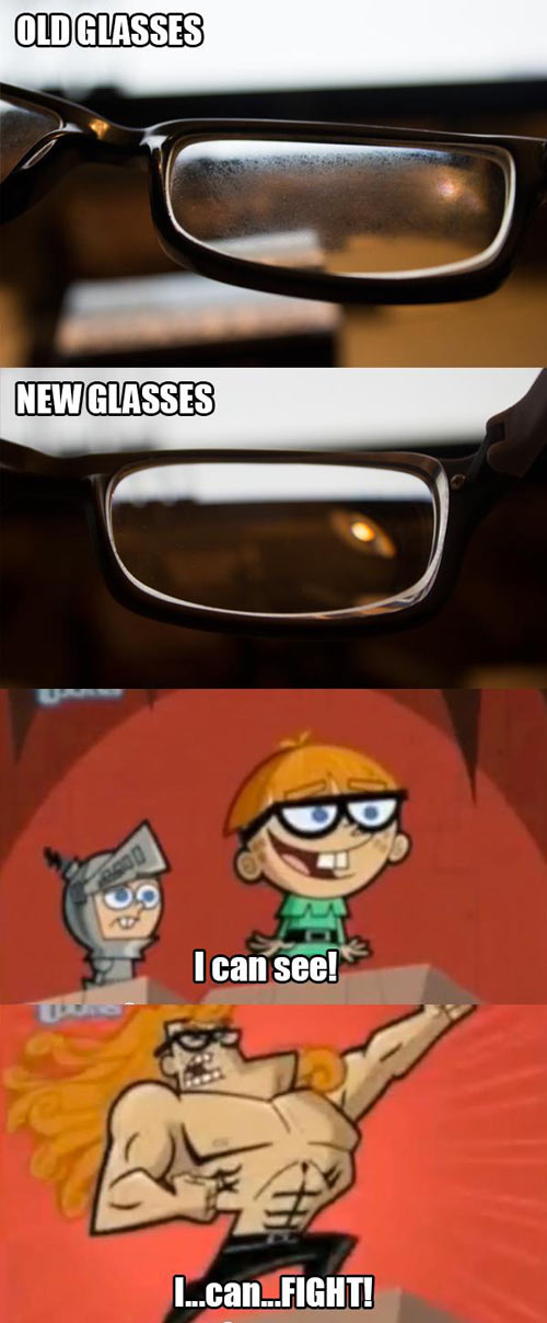 New glasses make the difference…