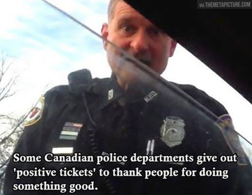 Good Guy Canadian Officer…