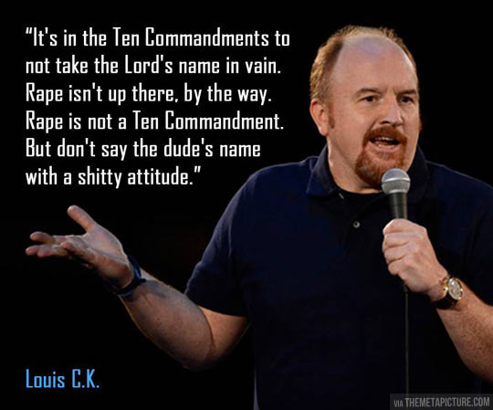 Louis CK on the Ten Commandments…