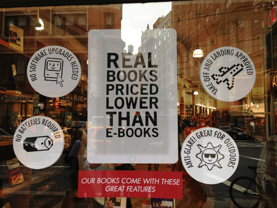 The advantage of real books…