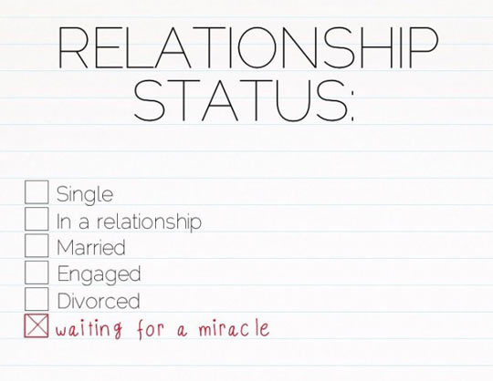 My actual relationship status…