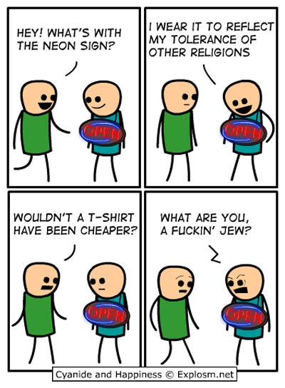 Tolerance to religions…