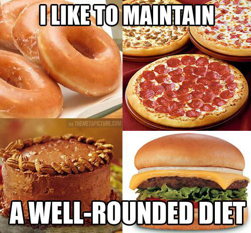 Rounded diet…