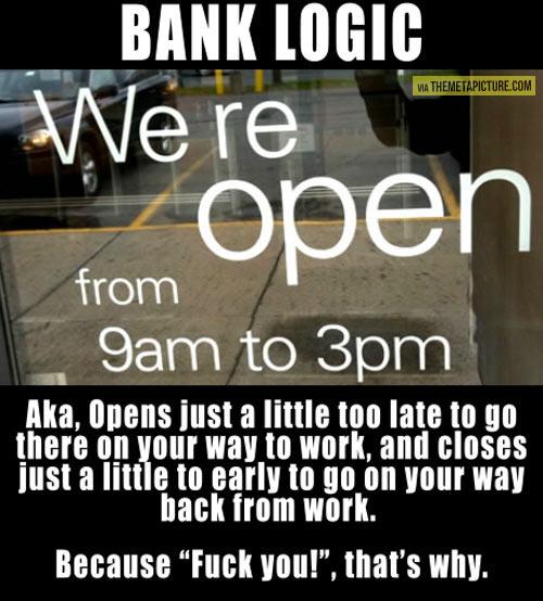 Bank logic…