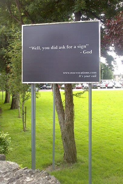 If you ever wanted a sign from God…
