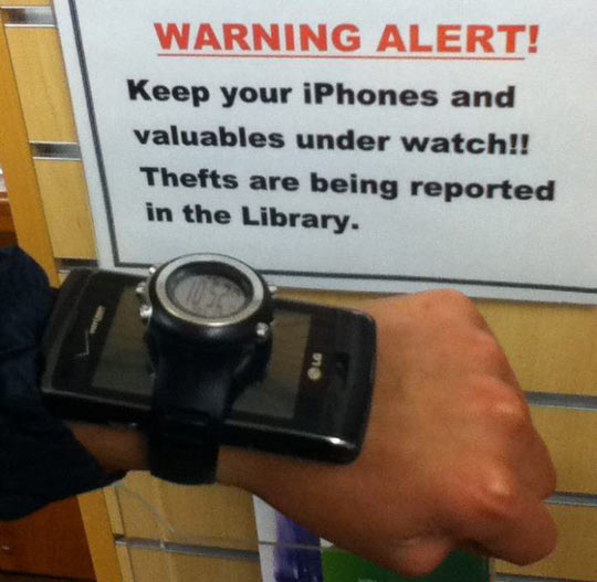 Valuables under watch…