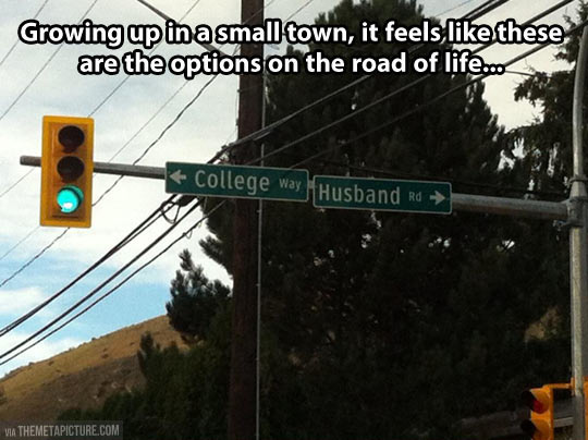 funny-small-town-choices-street-sign