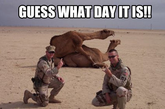 Guess what day…