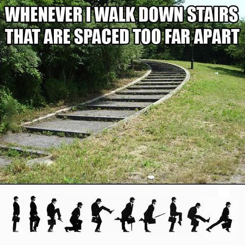 Walking down the stairs…