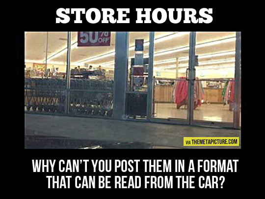 Store hours…