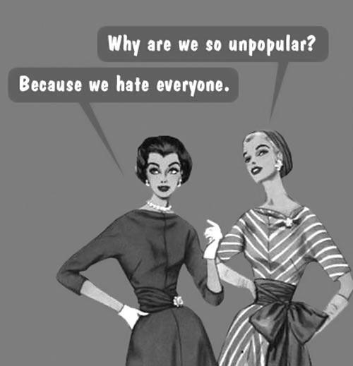 funny-vintage-girls-talking-unpopular