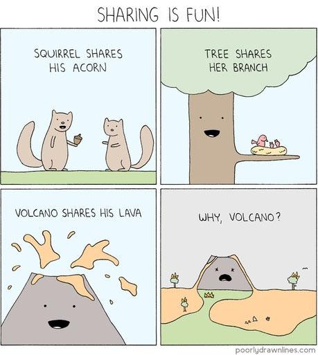 funny-volcano-lava-squirrel-tree