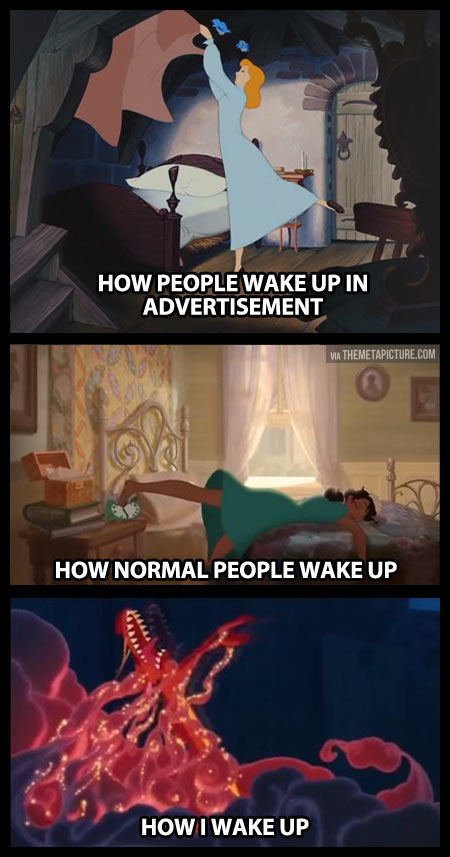 How people wake up…