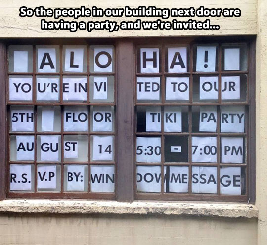 Window invitation…