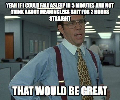 An every night struggle…