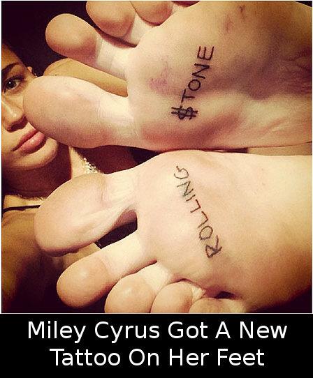 Miley Cyrus New Tattoo